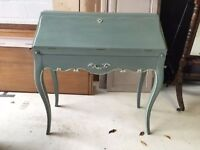 French Louis Vintage Shabby Chic Bureau, Writing Desk, Annie Sloan/Laura Ashley Paint
