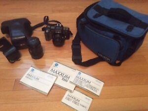 Minolta Maxxum 7000 35 mm SLR Camera, Lenses, Accessories