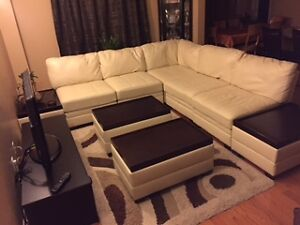 leather sectional by Ashley Furniture