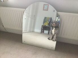 Mirror without frame