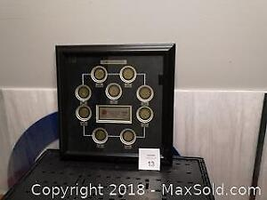 2002 Limited Edition Coca Cola Canadian Olympic Team Coins. Framed and Matted. - A