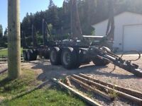2012 Answer Quad Axle Log Trailer