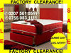 FACTORY-ST0CK-CLEARANCE NEW SINGLE BED £65 DOUBLE BEDS £85 & MATTRESSES  SAME DAY DELIVERY -call--0755-083-1111--free Same Day Delivery--factory-stock-clearance-sale--, London