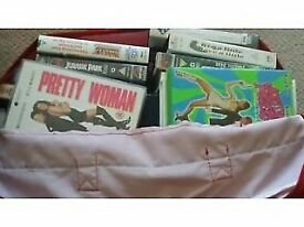 Video tapes VHS, about 35 items