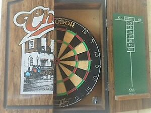 CHEERS dart board and case.