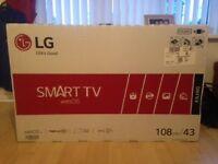 Brand new, still in original packaging LG 43inch Smart TV Full HD