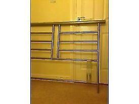 metal headboard double bed