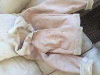 Cream Sheepskin Jacket Size 10-12