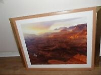 LARGE FRAMED PICTURE (76 X 92 CMS)