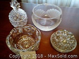 Assorted Glass or Crystal Bowls (stem holder) Category A Pickup