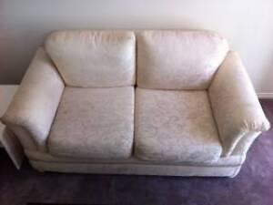 Cream fabric 2 seater sofa Eltham Nillumbik Area Preview