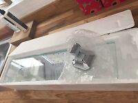 Brand New Art Deco Bathroom Shelf Glass