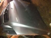 03 MERCEDES ML BONNET WITH GRILL COMPLETE SILVER