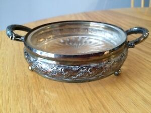 King George V Silver Butter Dish with Glass liner