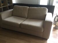 Marks & Spencers Sofa Bed - Hessian Beige Colour - Good Condition