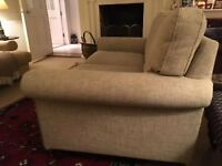 modern 2 seater sofa, neutral colour, good condition, non smoking home