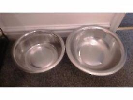 2 Large dog bowls