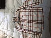 Boys Burberry Shirt. Worn once in excellent (as new) . Pale blue classic design. Size 12 yr /152cm.