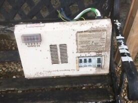 Meter board for a caravan