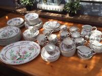 Nice dining/tea set 'Indian tree' design