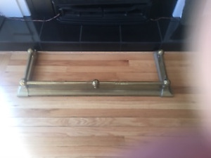 For sale antique brass fireplace surround