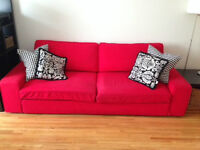 Red Pull Out Sofa Bed Couch