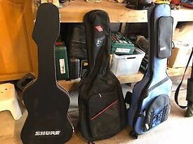 Guitar case and gig bags
