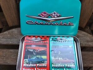 Chevrolet Corvette Playing Cards  2 decks in a tin....unused