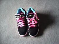 size 4 uk girls heelys just as good as brand new !
