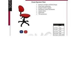 Ref3 Red Operator Task Computer Compact Office Chair Open For Collection in Lockdown Bulk Discount