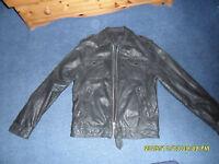leather jacket river island size 36 poss 38 slim mens jacket