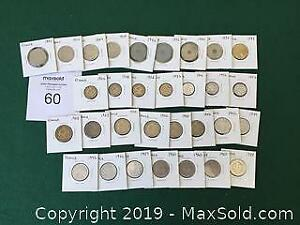 French Coins 20 Centimes to 1 Franc 1903 to 1988 A