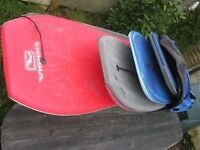Bodyboards and bag