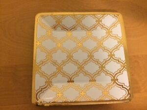 83 Gold and White Dessert Plates