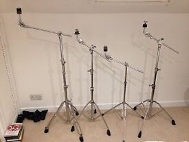 Various drum stands snare hi hat cymbal stands