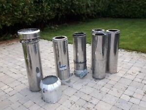 Wood burning stainless steel chimney (CSA approved)