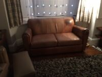 FREE-Leather two seater sofa