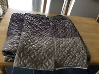 Double quilted duvet cover & matching pillow cases