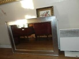LARGE SILVER MIRROR (82 X 110 CMS)