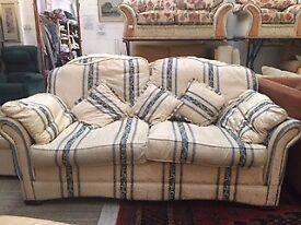 Blue stripe 3 piece suite at Cambridge Re-Use (reuse)