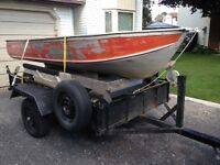 12 foot boat, aluminum with 10 HP Evinrude outboard