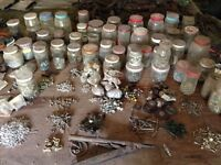 assorted air tools and rivets