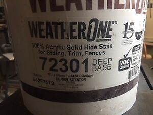 5 Gallons Weather One 100% acrylic solid stain