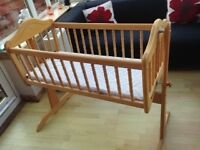 Baby Crib, wooden. With or without mattress
