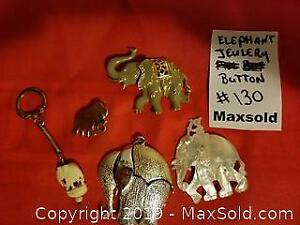Antique Mother of Pearl elephant jewelry