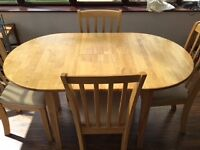 Extending Dining Table and 4 Chairs - £90 Ono.