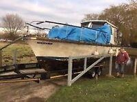 Seamaster 27 ft Cabin Cruiser Boat Original + Spare BMC 1500 D 1.5l marine diesel engine