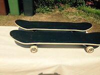 2 identical skateboards