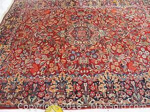 Antique Hand Woven, All Wool, Persian Mahal Rug.