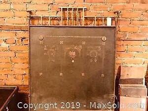 Antique Brass Headboard